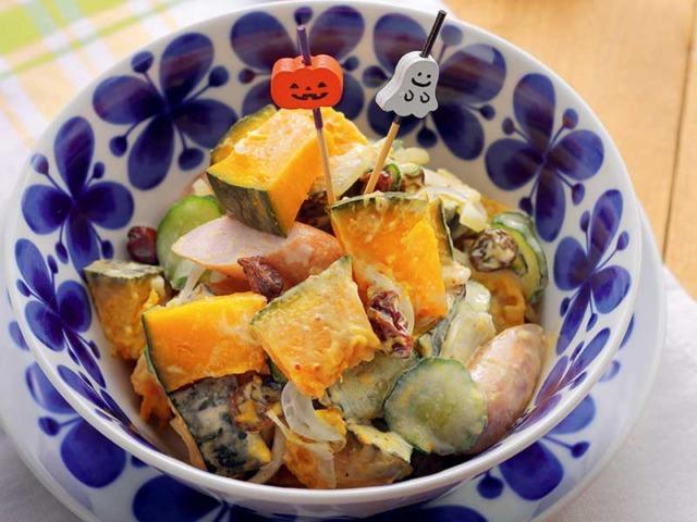 デリ風ゴロゴロかぼちゃサラダ
