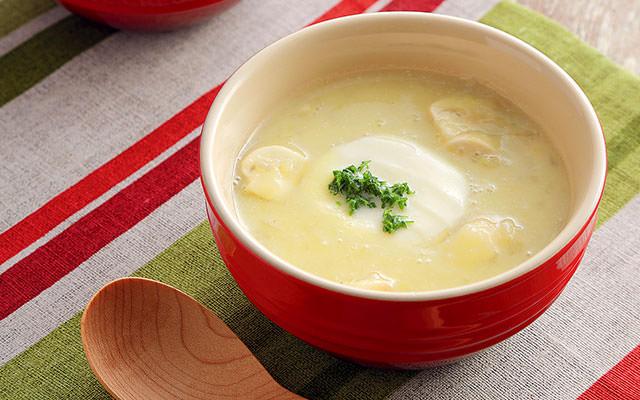 田舎風モッツァレラチーズスープ
