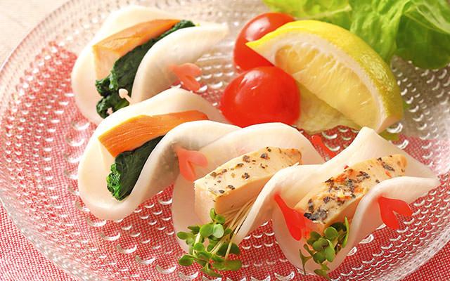 手巻き寿司感覚で楽しい、くるりんぱ大根